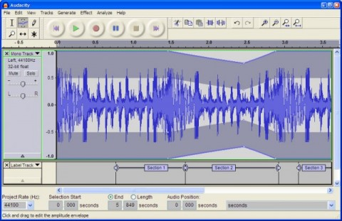 Record and edit Audio with Audacity 1